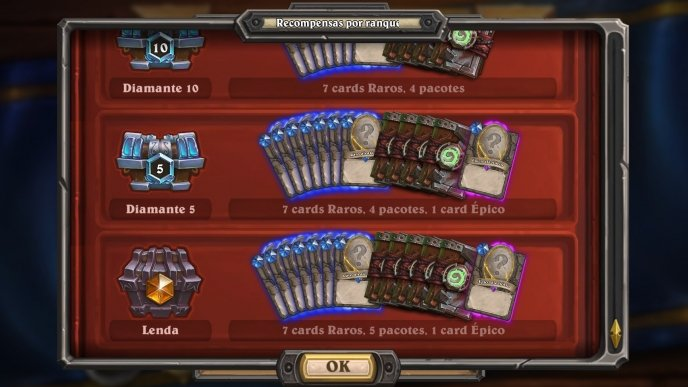 Veja todas as recompensas do novo Sistema Ranqueado de Hearthstone