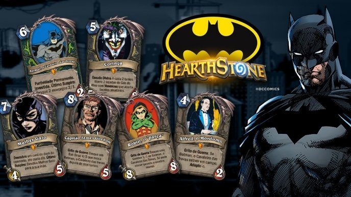 Personagens de Batman viram cards de Hearthstone