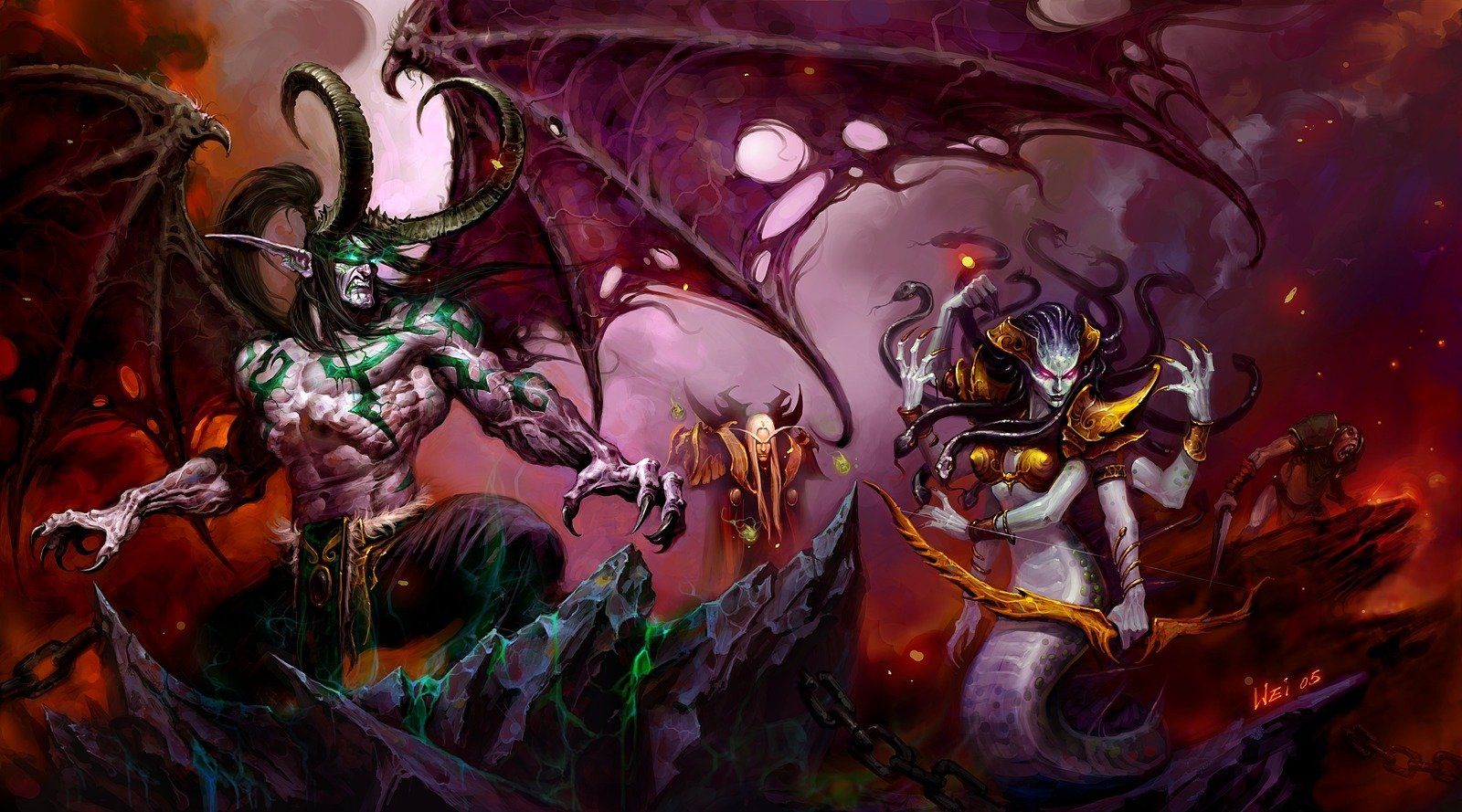 Illidan, Kael'thas e Lady Vashj – Moon Guard Wiki