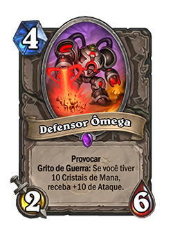 Defensor ômega - Card do Projeto Cabum