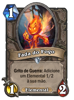 Fada do Fogo Card