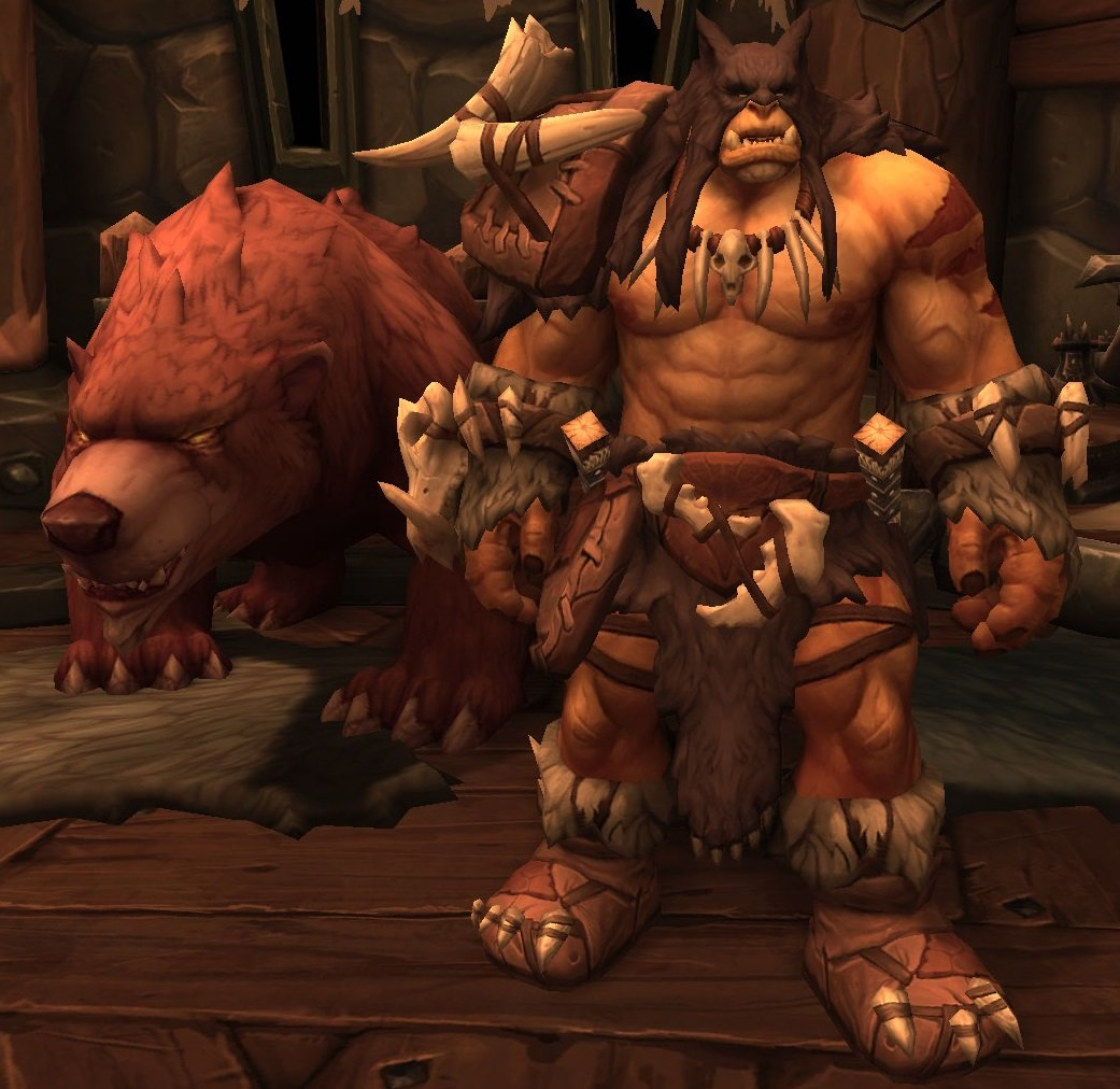 Rexxar e Misha em World of Warcraft Battle for Azeroth