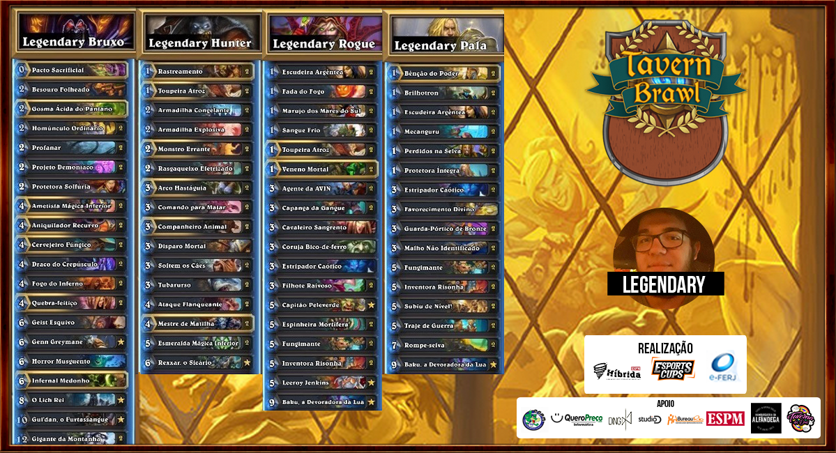 Decks do competidor Legendary