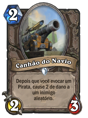 Canhão do Navio Card