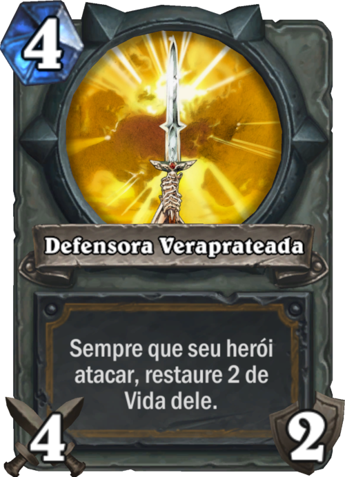 Defensora Veraprateada Card