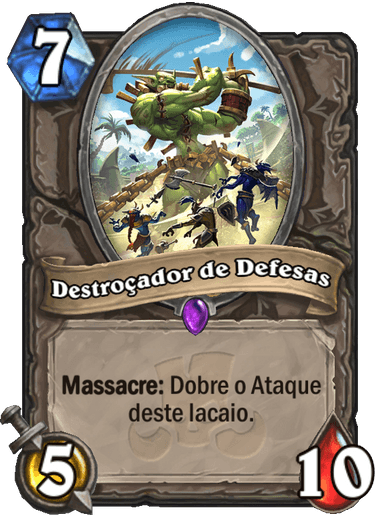 Destroçador de Defesas Card PTBR