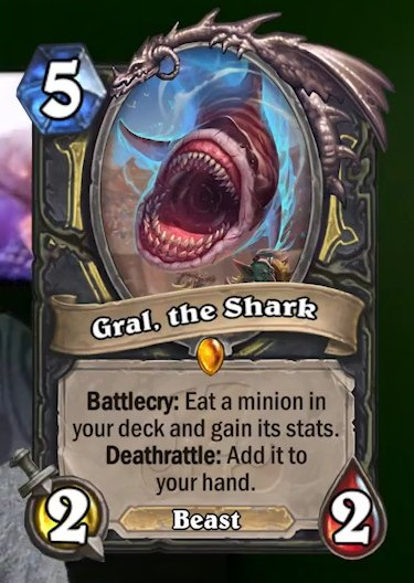 Gral The Shark - Novo Card do Ringue de Rastakhan