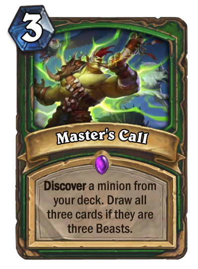 Master's Call - Hearthstone Card Reveal
