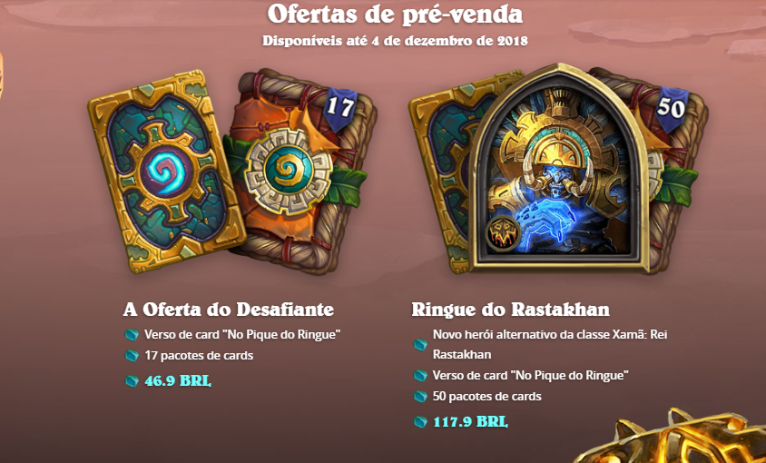 Oferta da pré-venda de Ringue do Rastakhan