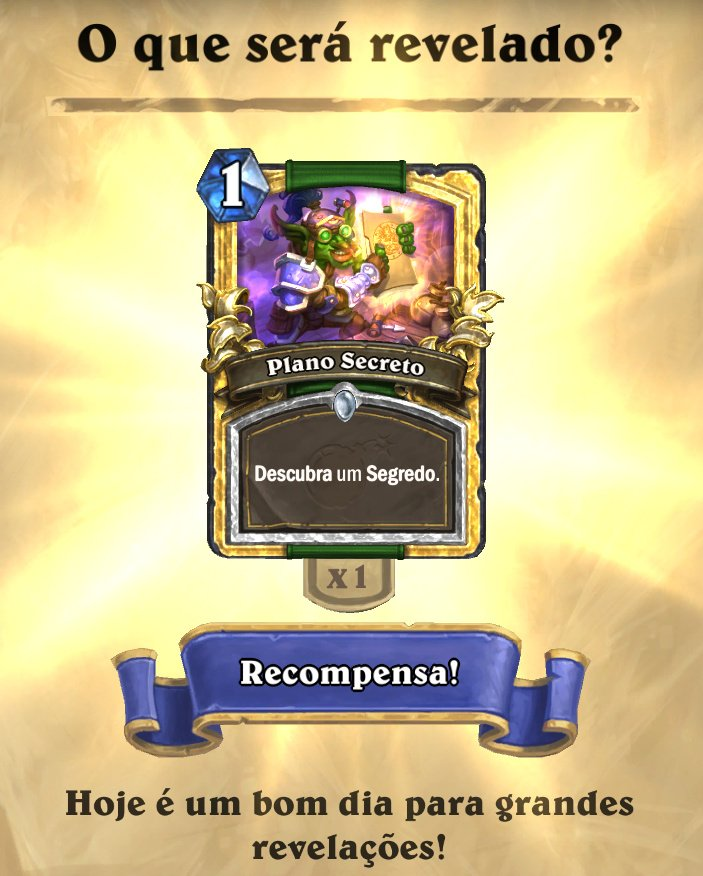 Plano Secreto Card Dourado - Blizzcon