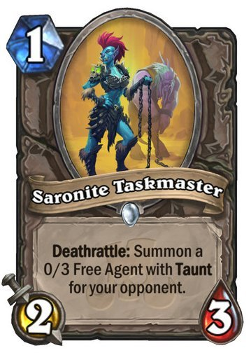 Saronite Taskmaster Card Reveal
