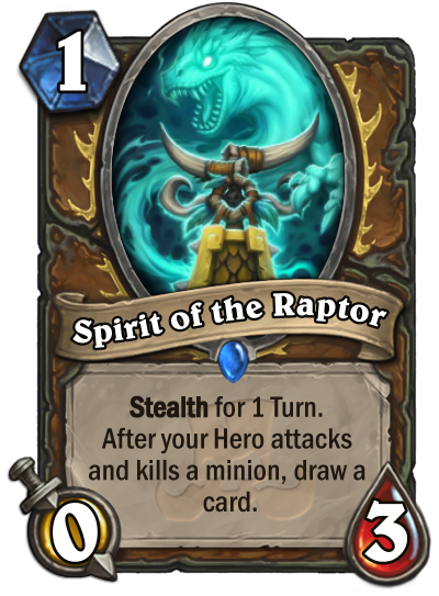 Spirit of The Raptor Card