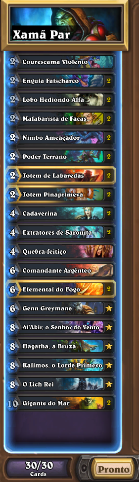 Lista de xamã par de Ringue do Rastakhan