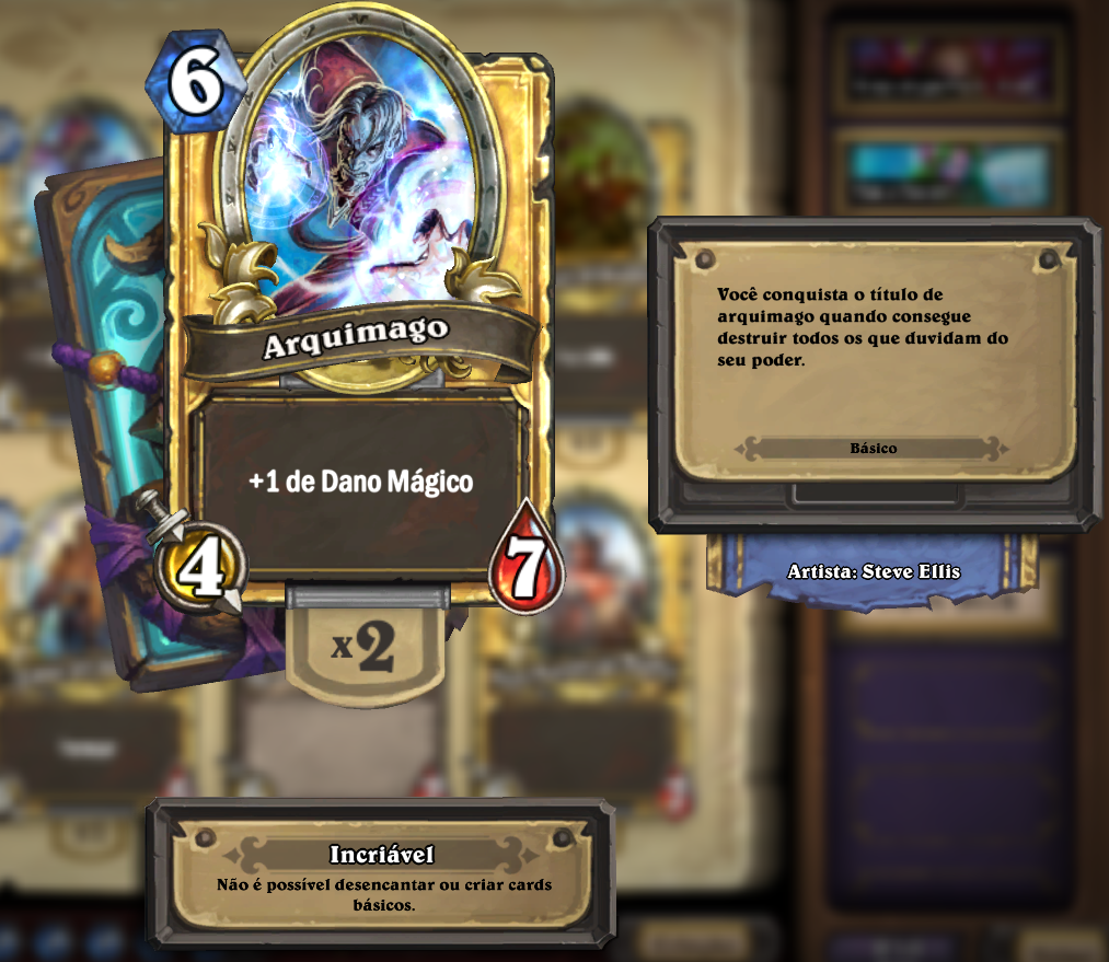 Flavor Text do Arquimago