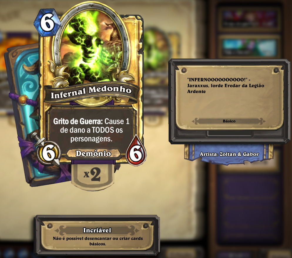 Flavor Text de Infernal Medonho