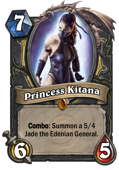 Kitana Card Mortal Kombat