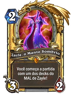 Zayle Manto Sombrio Card Dourado