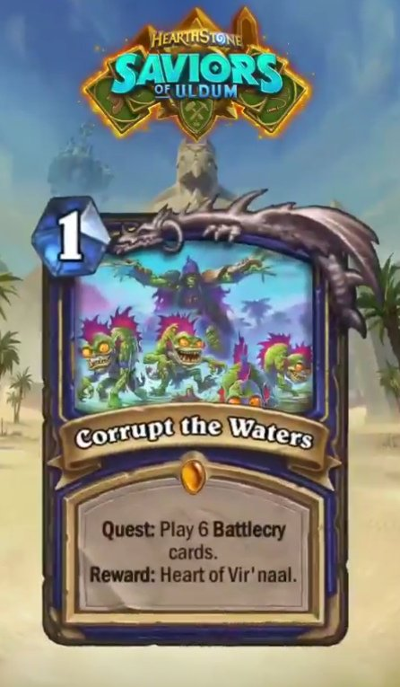 Corrupt The Waters - Card Lendário de Missão - Hearthstone