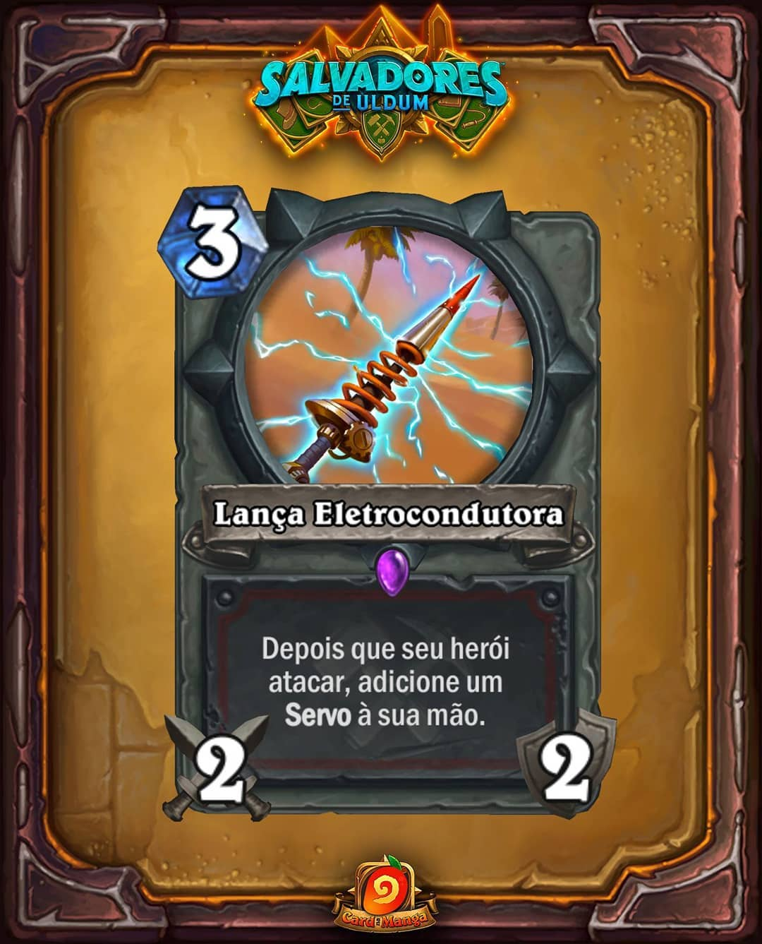 Lança Eletrocondutora - Card Reveal PTBR