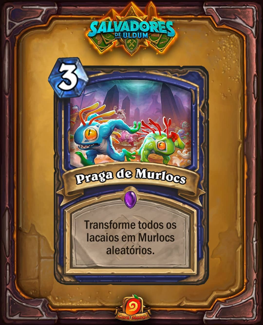 Praga de Murlocs - Card PTBR Reveal