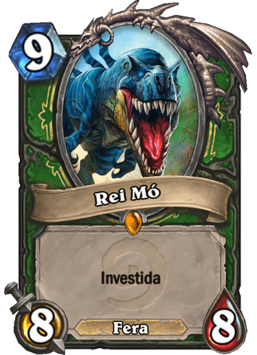 Rei Mó - Card do set clássico de Hearthstone