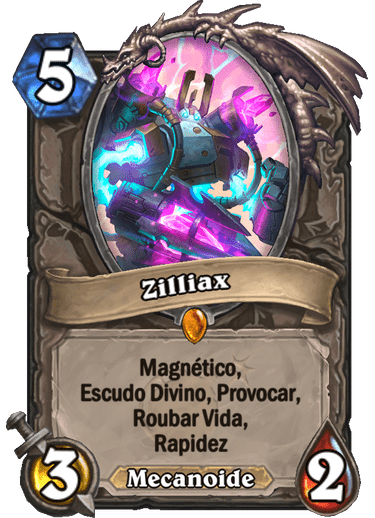 Zilliax Card PTBR Hearthstone