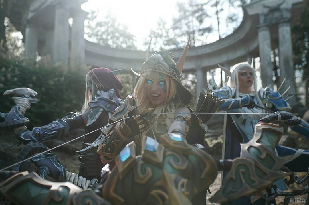 Cosplays de World of Warcraft - Vereesa, Sylvanas e Alleria Correventos - 02