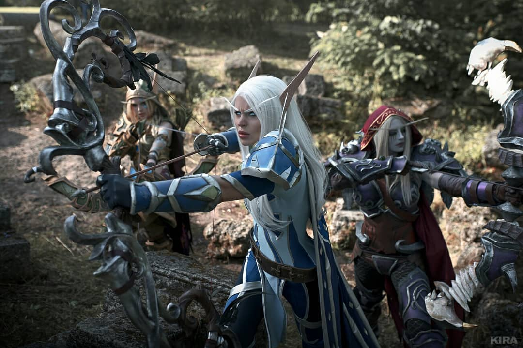 Cosplays de World of Warcraft - Vereesa, Sylvanas e Alleria Correventos - 03