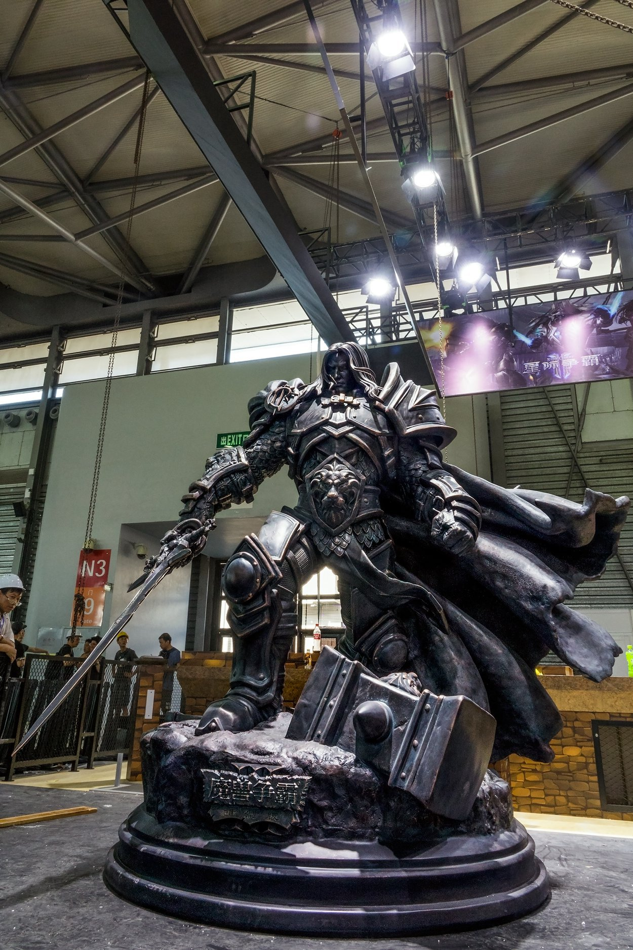 Estátua do Arthas na ChinaJoy 2019 - 01