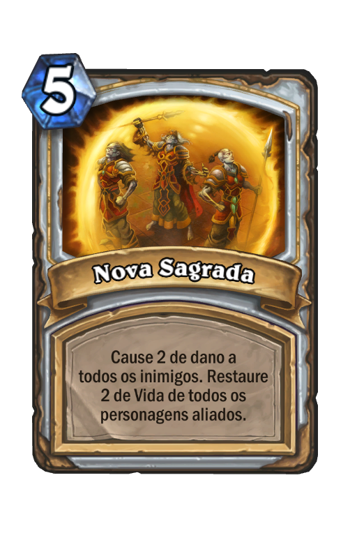 Nova Sagrada - Card de Hearthstone