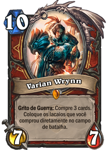 Varian Wrynn - Card do Grande Torneio