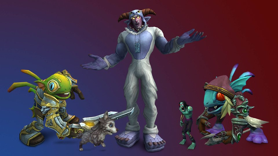 Mascotes de World of Warcraft da Blizzcon 2019