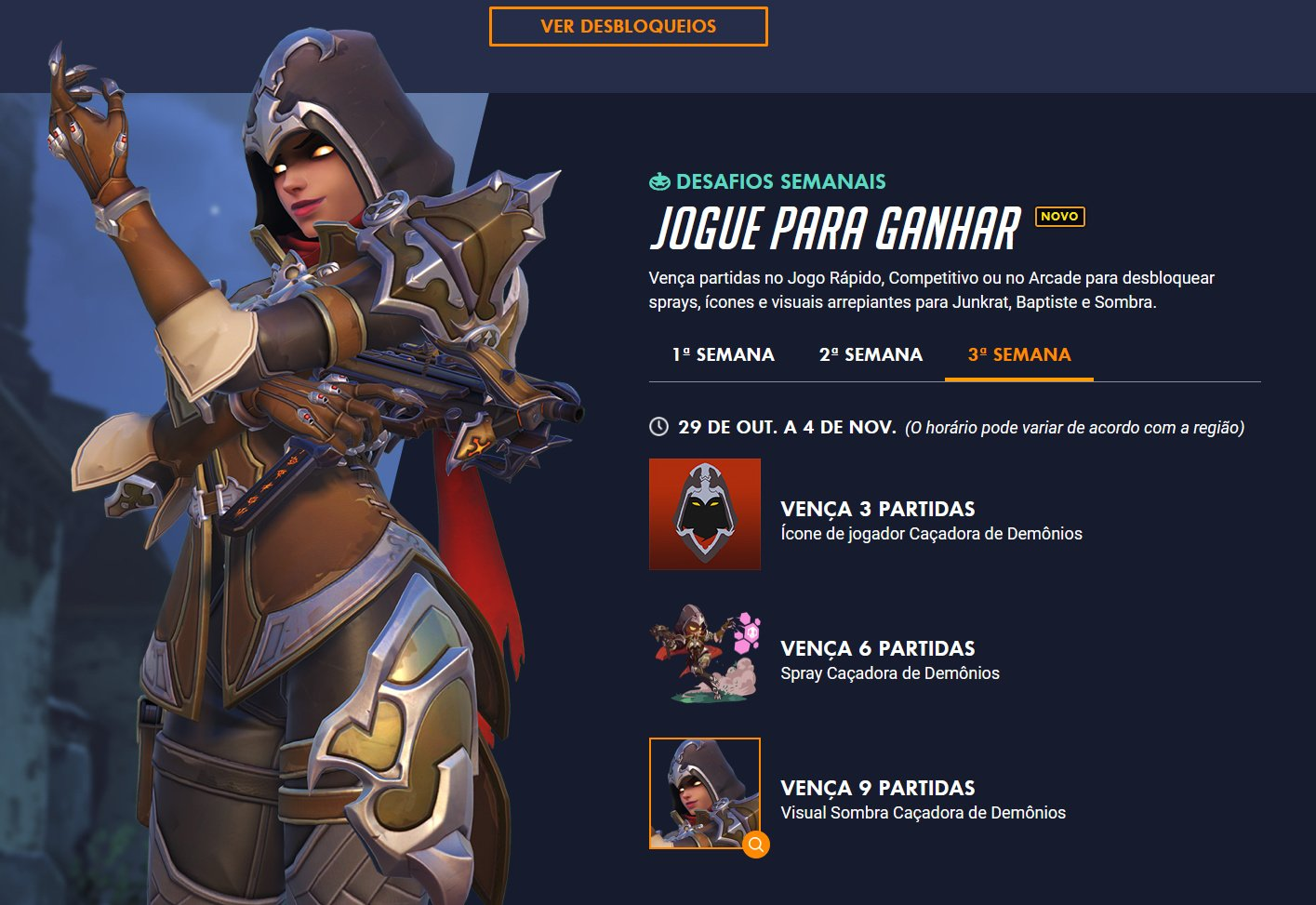 Skin Sombra Demon Hunter - Evento de Overwatch