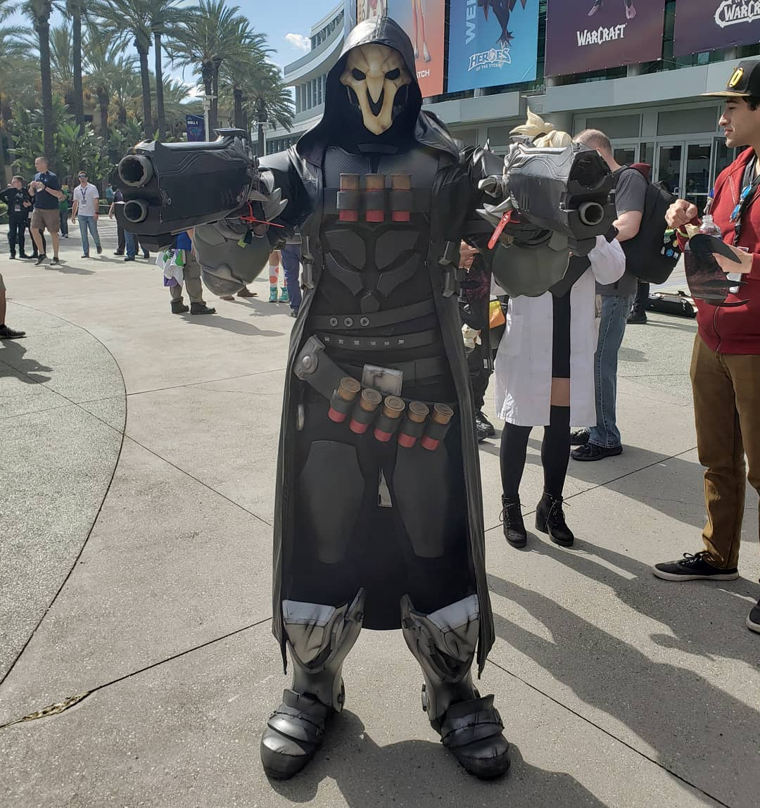 Cosplay do Reaper na Blizzcon 2019