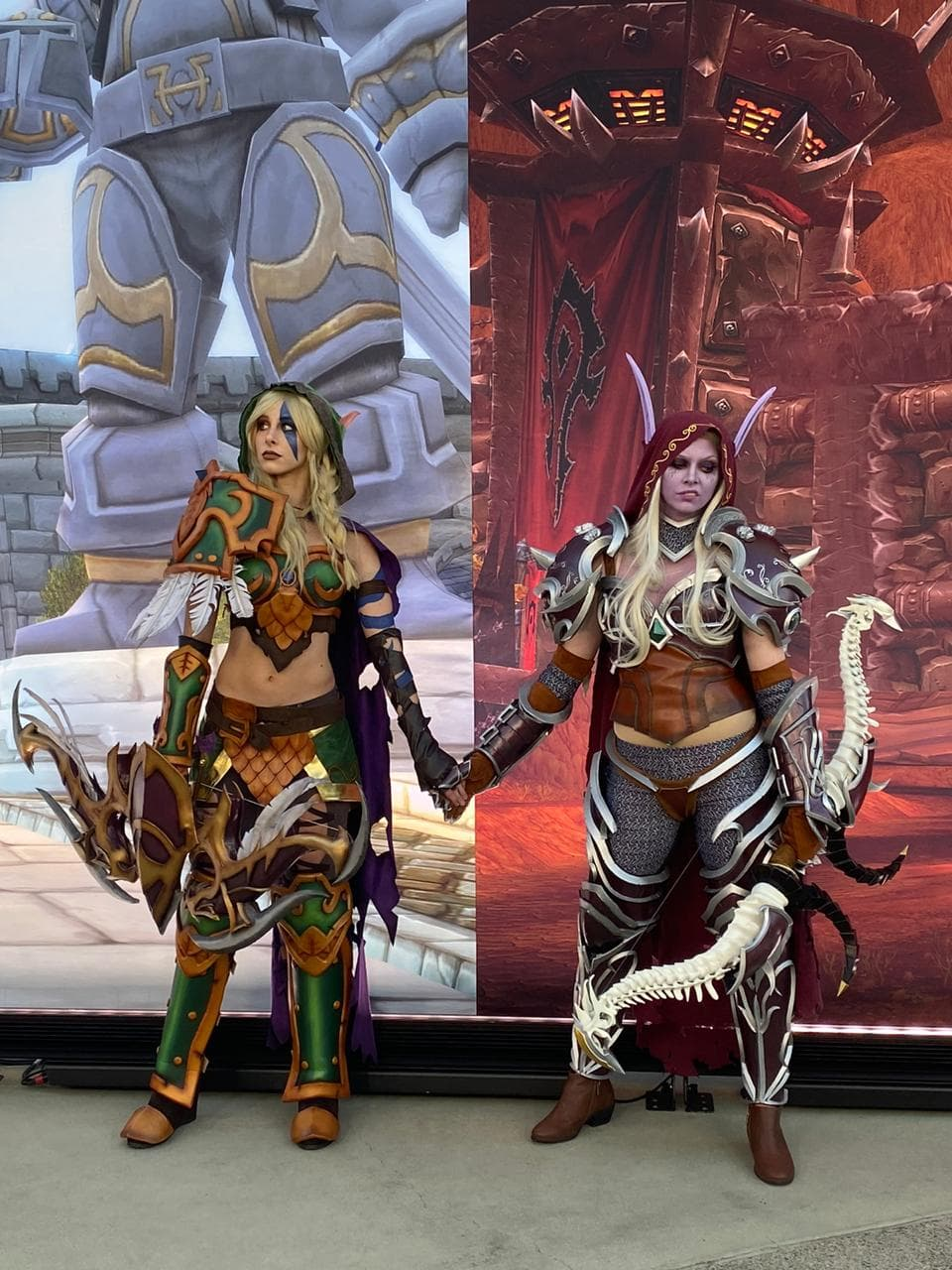 Cosplays da Alleria e da Sylvanas - Hearthstone e World of Warcraft
