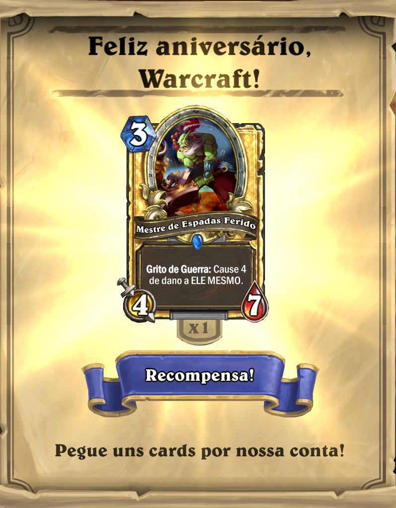 Mestre de Espadas Ferido - Card Dourado do evento