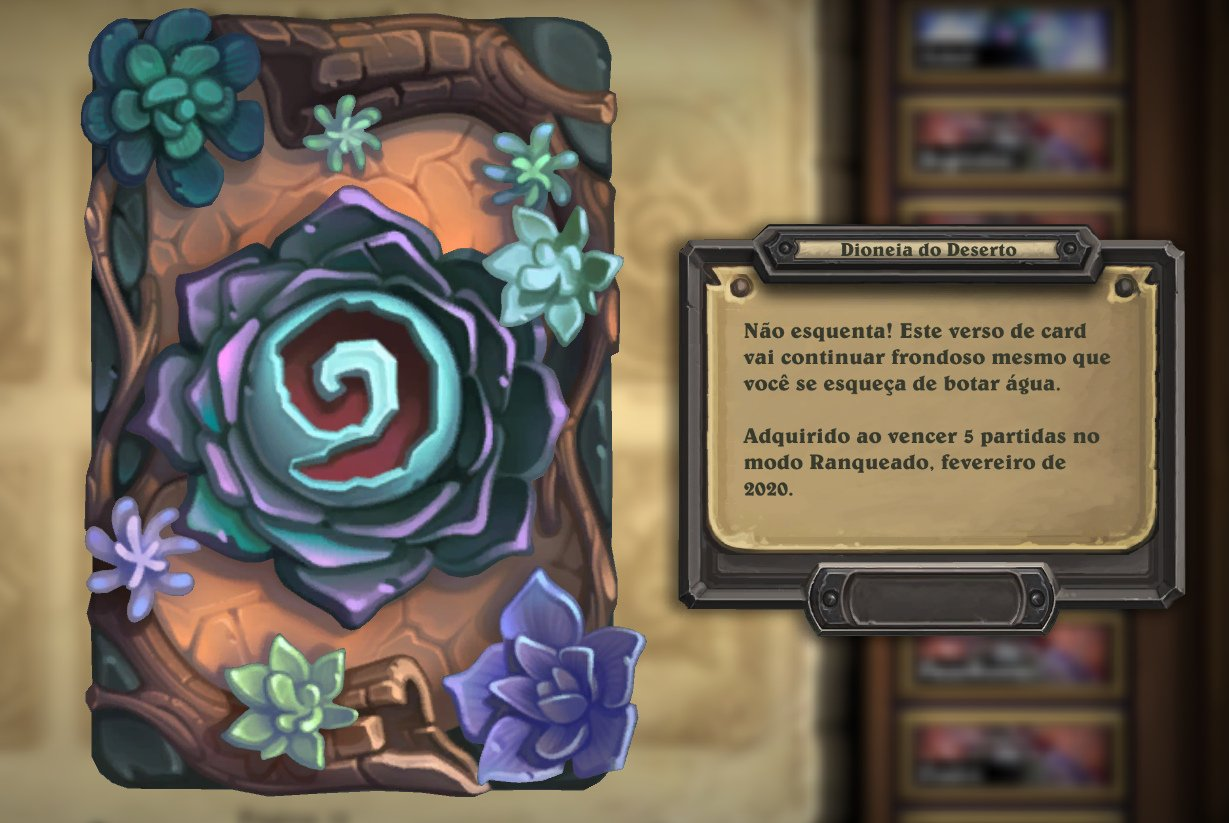 Hearthstone - Dioneia do Deserto - Verso de Card