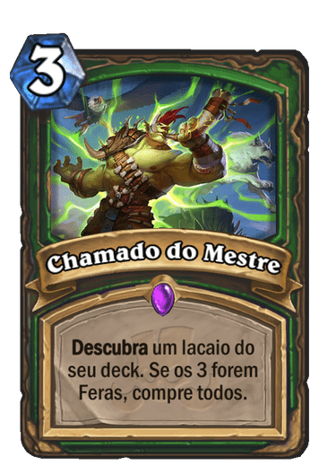 Chamado do Mestre Card PTBR