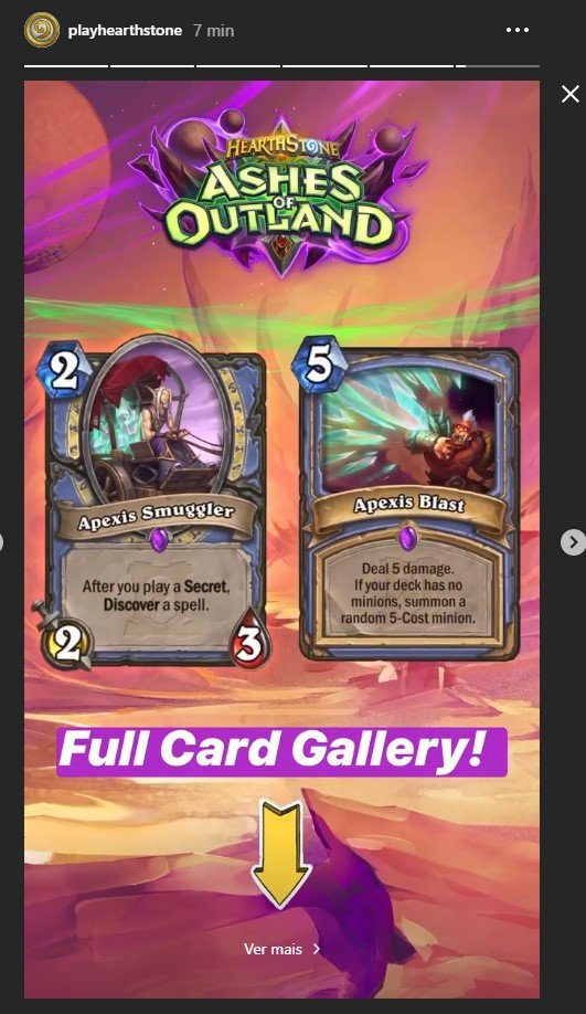 PlayHearthstone no Instagram