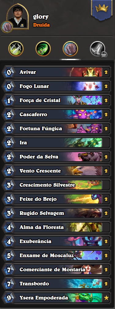 Deck do Glory - Druida - HS Grandmasters 11-05