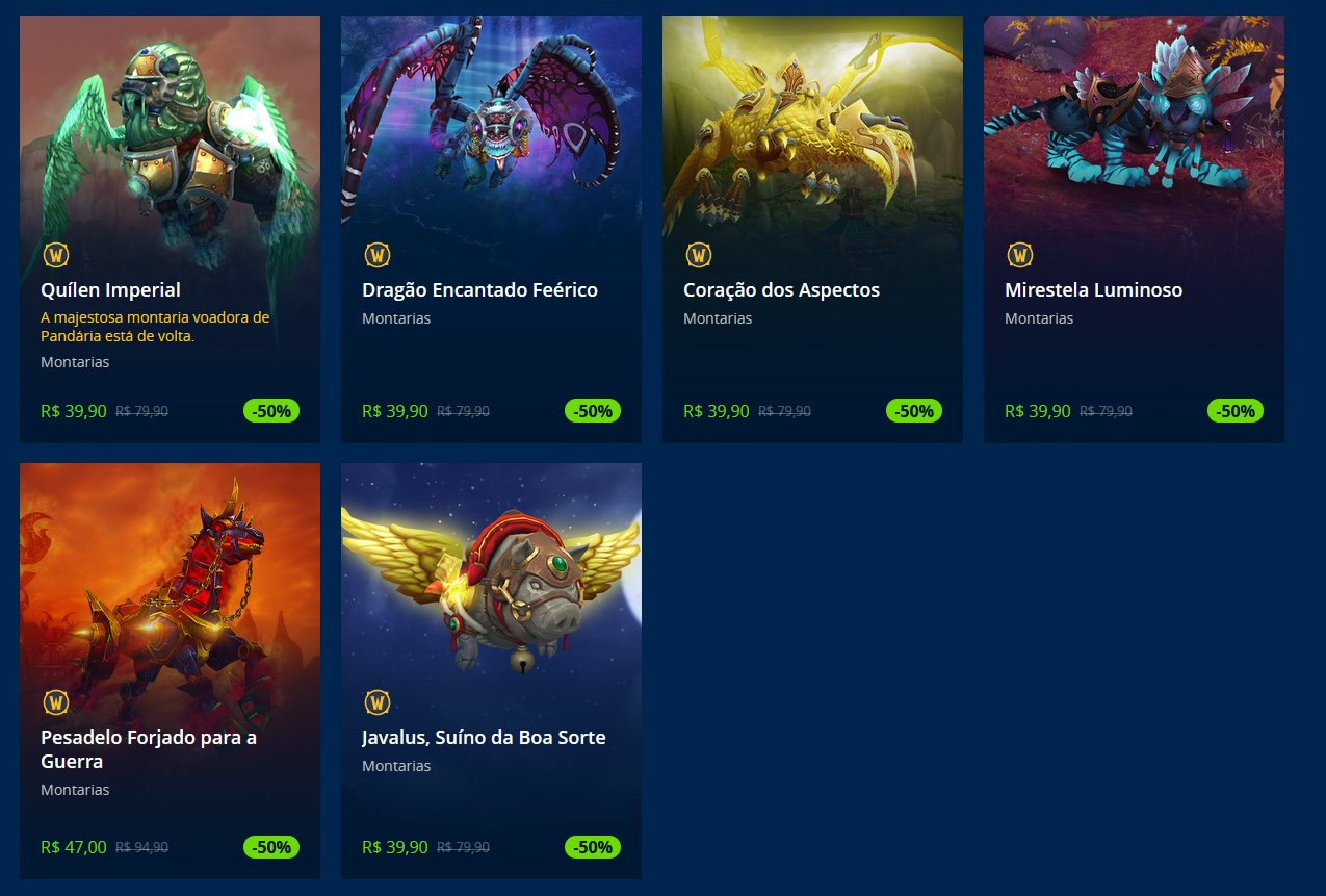 Ofertas de Montarias no WoW - Blizzard Shop
