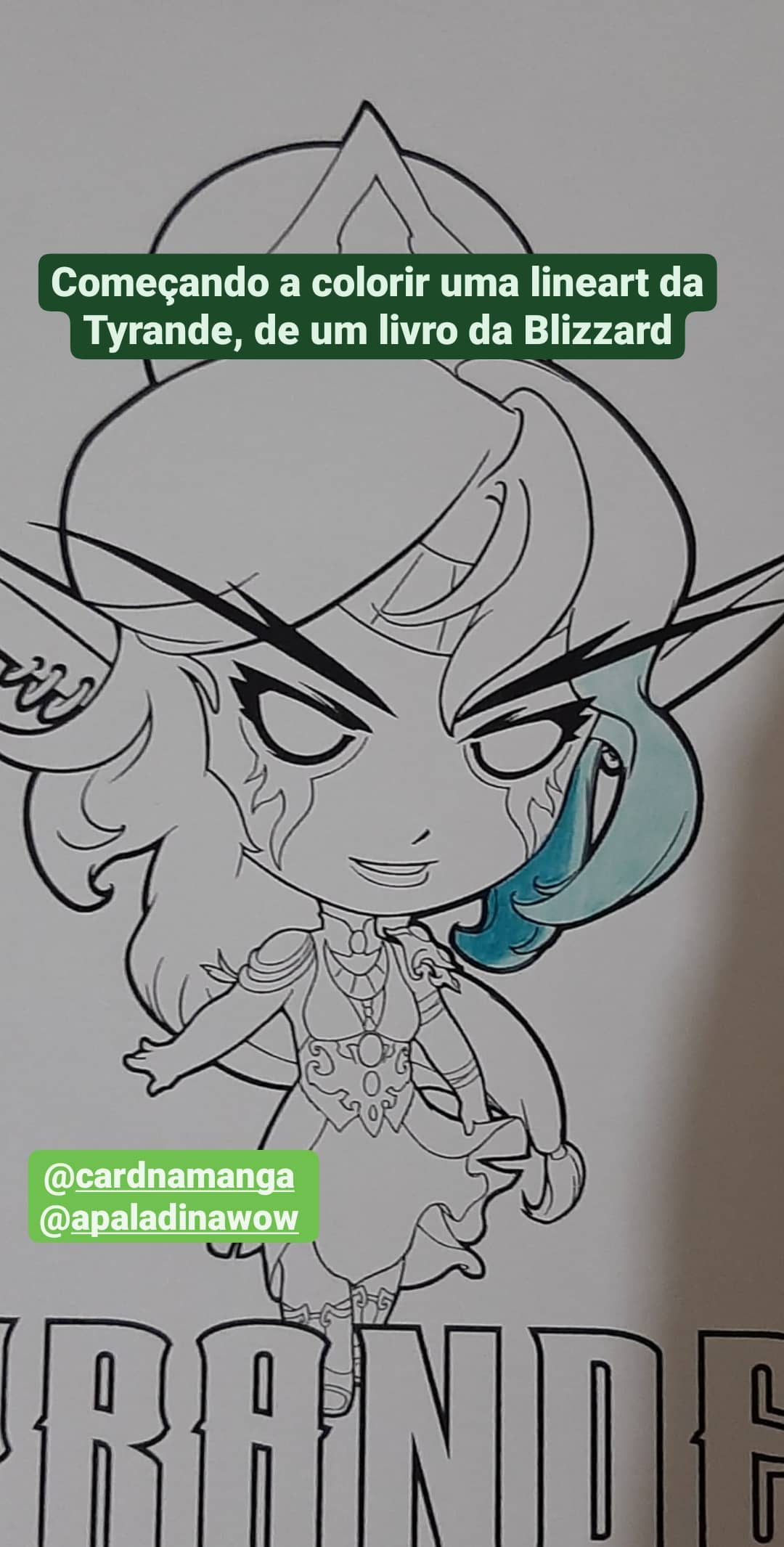 Colorindo a Tyrande - World of Warcraft e Hearthstone - 01