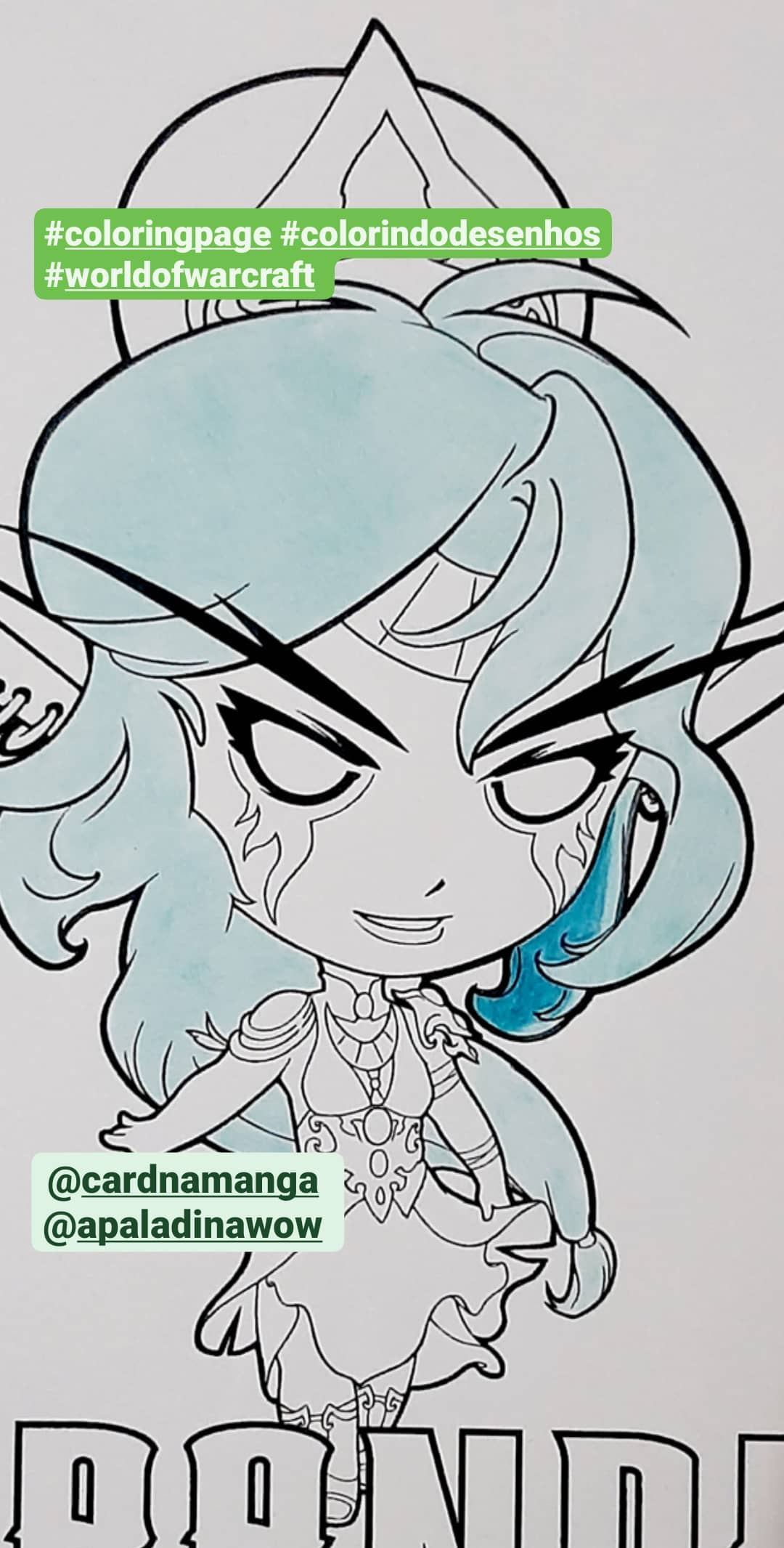 Colorindo a Tyrande - World of Warcraft e Hearthstone - 03