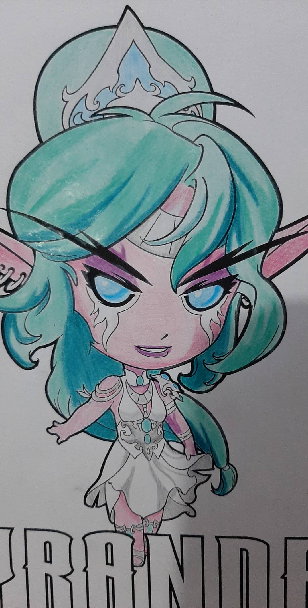 Colorindo a Tyrande - World of Warcraft e Hearthstone - 09