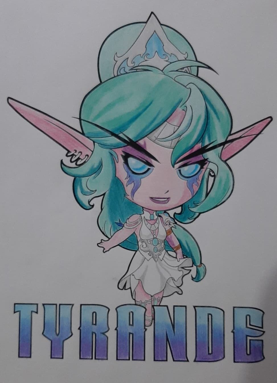 Colorindo a Tyrande - World of Warcraft e Hearthstone - 11