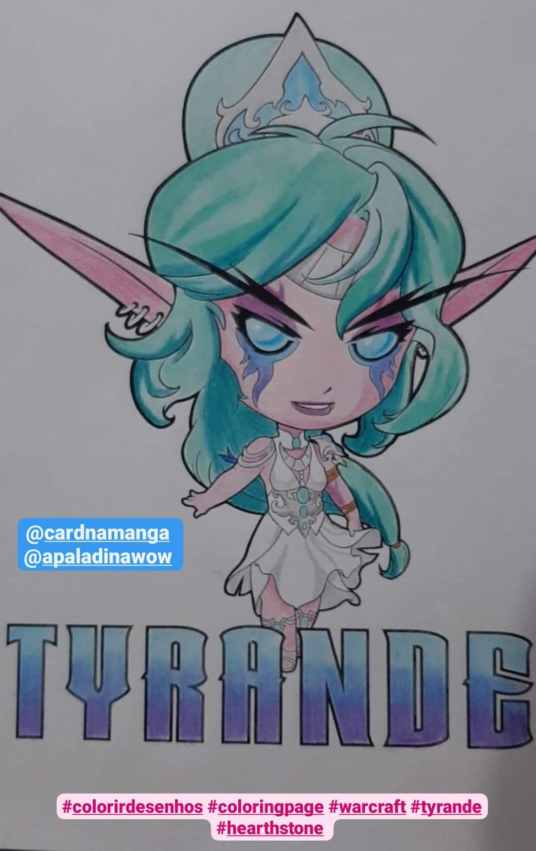 Colorindo a Tyrande - World of Warcraft e Hearthstone - 12